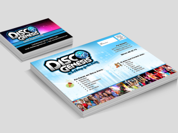 Disco Genesis-Postcard & Business Card Design