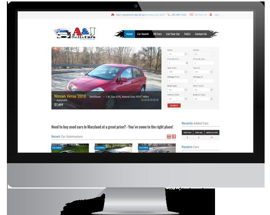 A&J Sells Cars Mockup1
