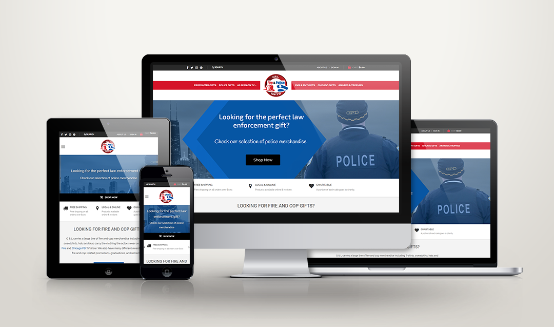 Chicago Fire & Cop Shop - Web Design