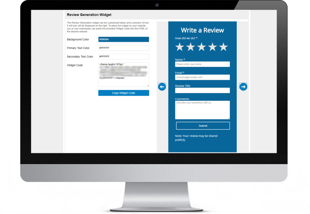 Website Review Widget