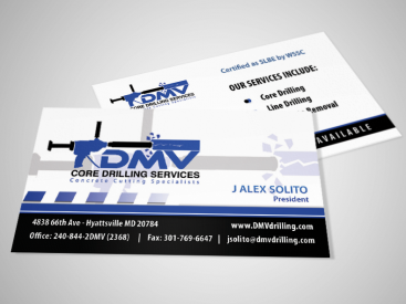 DMV- Business Card Design