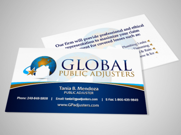 Global Public Adjusters- Business Card Design