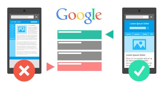 mobile optimized google change