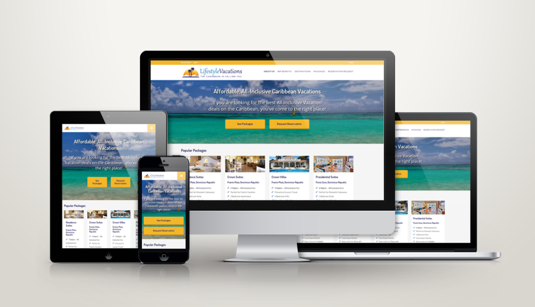 lifestyle vacations web design